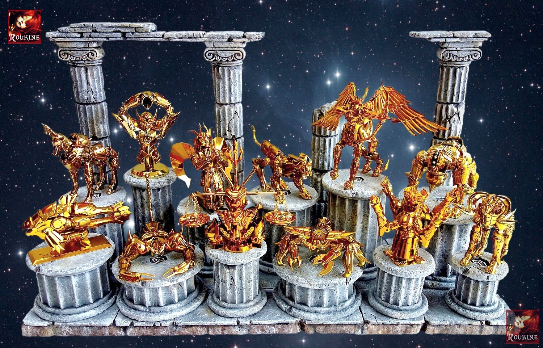 Saint seiya chevaliers du zodiaque roukine diorama d cor for Ce decor