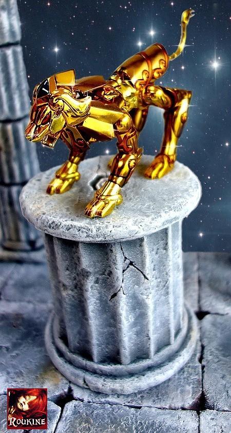 Piedestal lion saint seiya