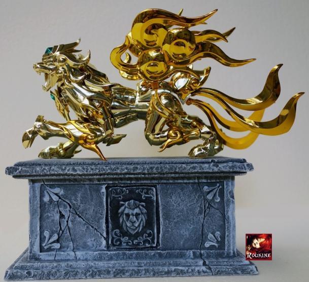Piesdestal lion soul of gold 2